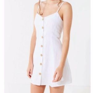 Urban outfitters button-down strappy linen dress